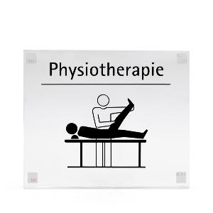 Intra-Türhaftschild Acryl Physiotherapie, 1St